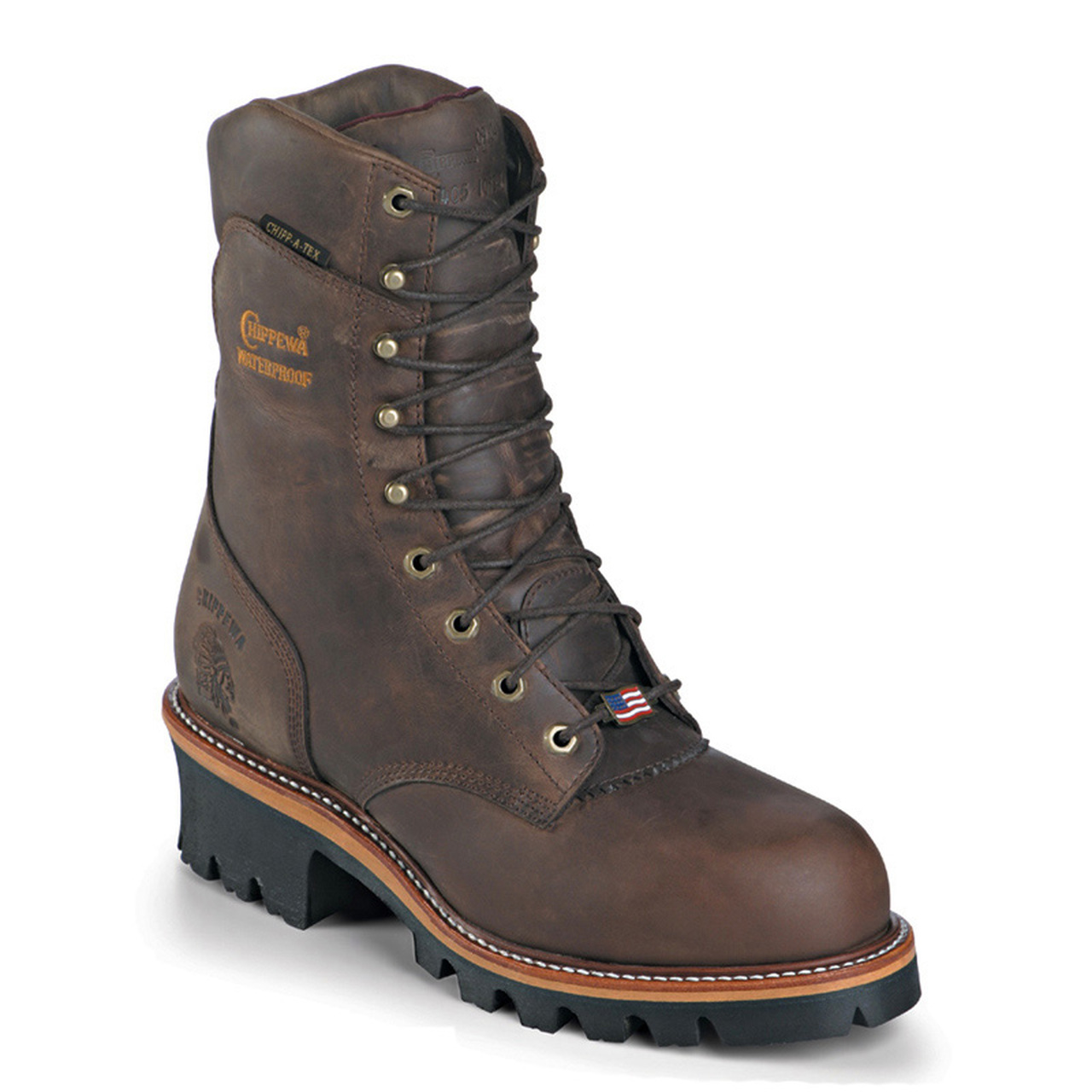 Chippewa Super Loggers are Handcrafted in the USA and made with Premium Leather