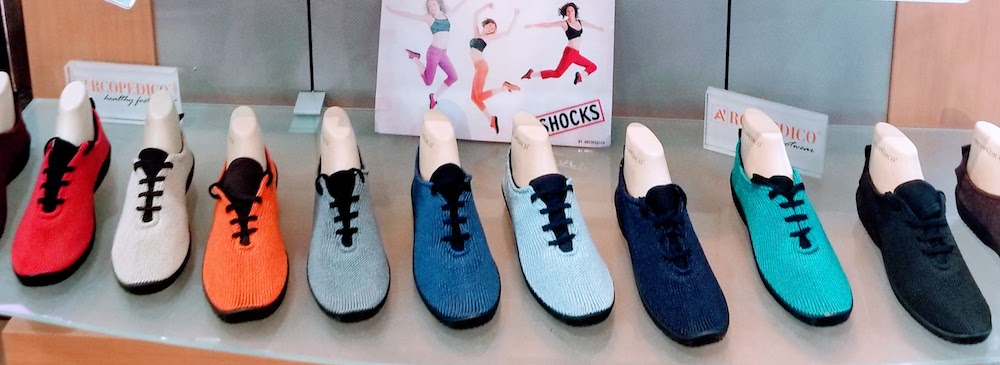 Enjoy the comfort of Arcopedico knit sneakers