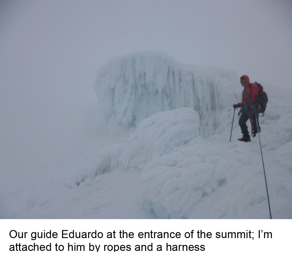 Our guide Eduardo at the entrance to the summit of Tolima