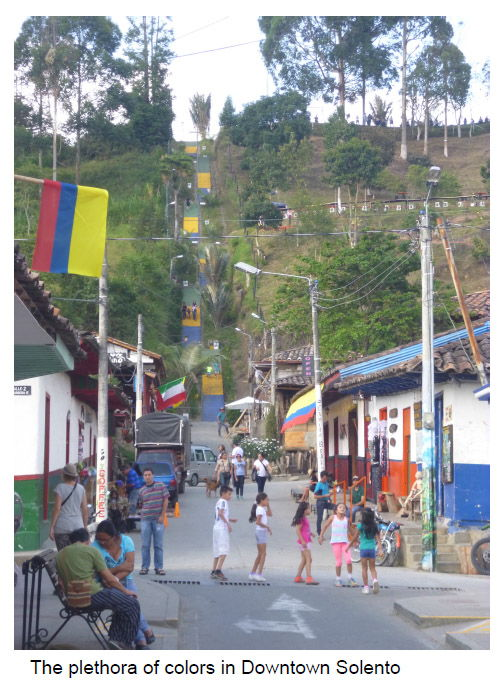 Exploring the Town Center in Salento, Colombia