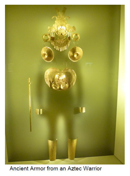 Ancient Golden Armor from an Aztec Warrior
