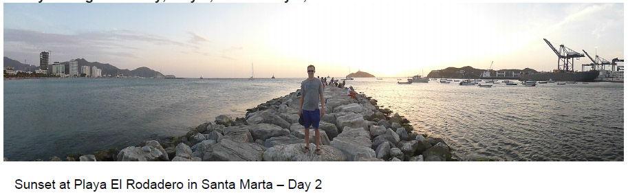 Visiting Santa Marta on the coast of Colombia