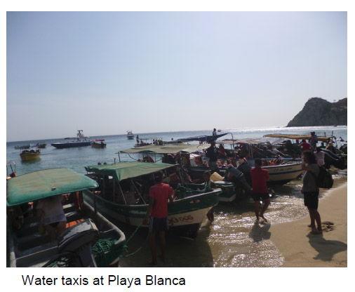 Water Taxis at Playa Blanca